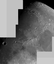 Moon Mosaic: Appenines and Mare Imbrium 18/12/07 - Bill Leslie