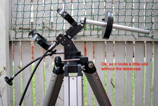 looks wierd without the telescope
