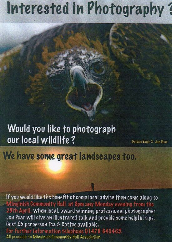 would you like to photograph our local wildlife?