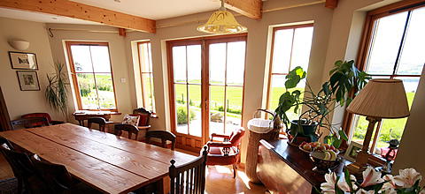 netherton farm dining room with view