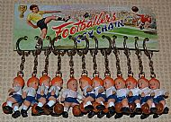 Footballer key chains