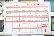 Man Utd team sheet