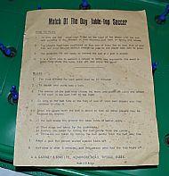 Rule sheet