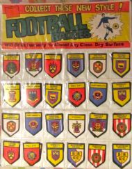 Shop display football stickers