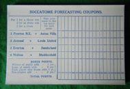 Forecasting sheet