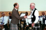 Don McLellan Presenting a copy of the new tunes to Prince Edward