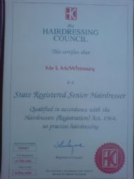 State Registered Senior Hairdresser