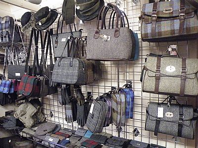 gift shop selling harris tweed & leather goods