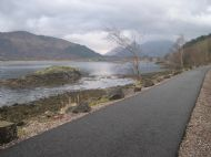 Cycle path heading north to Ballachulish