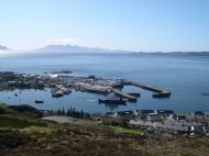Mallaig with Rhum in the background