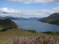 View east over Loch na Beiste