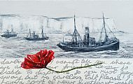 Remembrance Poppy 2 (Trawlers at Beachy Head)