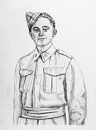 Sketch: WW1 Army Dental Corps Portrait