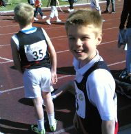 Under - 11's Danny & Euan in confident relay mood