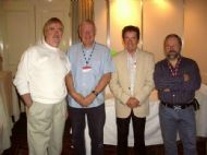 Russ Hicks,Malcolm Mc Master,Ted Nesbitt of Rainbow Music,and Willie Gamble. Drogheda 2007