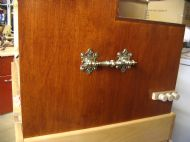 Details of lifting handles and stop knobs