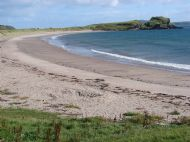 Dunaverty Beach in the summer.