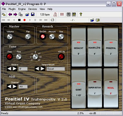 virtual organ company positief iv virtual vst german chest organ software module screenshot