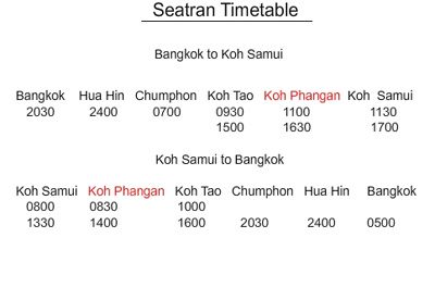 seatran ferry timetable