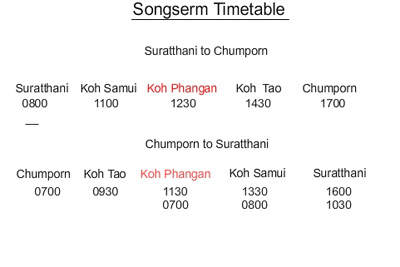 songserm ferry timetable