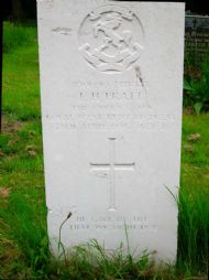 inscription reads: 7901440 private/ l h pratt/ the queen's own / west kent regiment/ 29th april 1945 aged 26/ he gave his life that we might live.