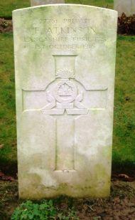 gravestone of frank atkinson.