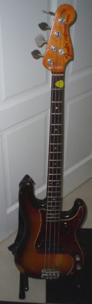 Mijn Fender Precision bass