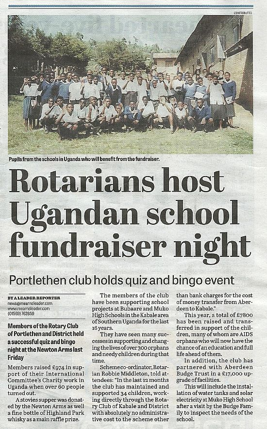 portlethen rotary in the mearns leader