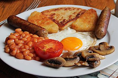 vegetarian cooked breakfast