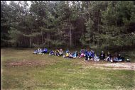 Having lunch at the John Muir Country Park - 1991