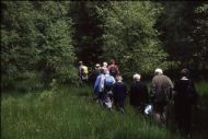 Norman Tait leading members around SWTGlen Moss, Kilmacolm - 1998