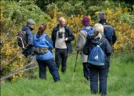 Tom Byars still showing members around Brownside Braes - 2009