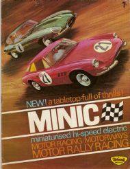 Tri-ang Minic motor rally racing about 1964