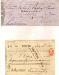 Old UK cheques