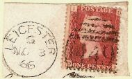 One Penny Red 1866
