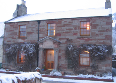 founders house in winter
