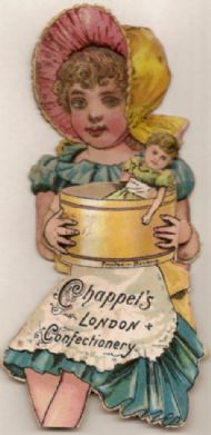 Victorian Die-cut for Chappels confectionary, London.