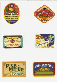 Soft Drinks labels 1950s #3