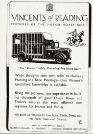 Vincents of Reading Motor Horse Box 1946