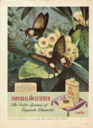 Cusson's Imperial Leather - butterflies on rhododendron