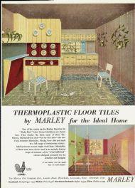 Marley thermoplastic floor tiles 1951