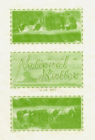 National Butter grease proof paper wrap