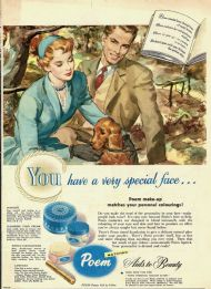 Poem face powders 1952