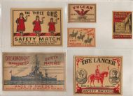 More match box labels early 1900s