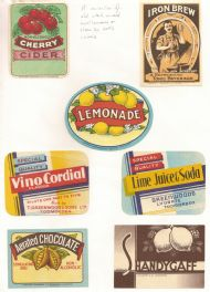 Soft Drinks labels 1950s #1