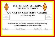 BARTG Quarter Century Award (QCA)