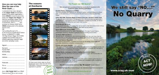 we still say no>>>no quarry leaflet outer