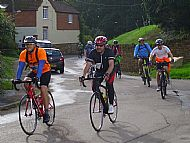 Cyclists in Thornby Road