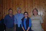From lt to rt Neil, Trevor, Orlene, Susan at Magic Metals talk