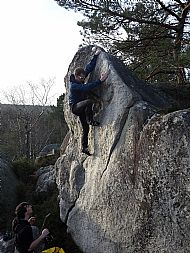 Bouldering at Apremont - Fontainebleau